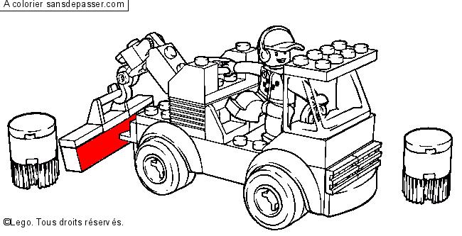 Coloriage Camion Lego.Dessin Colorie Camion Lego Par Un Invite Sans Depasser