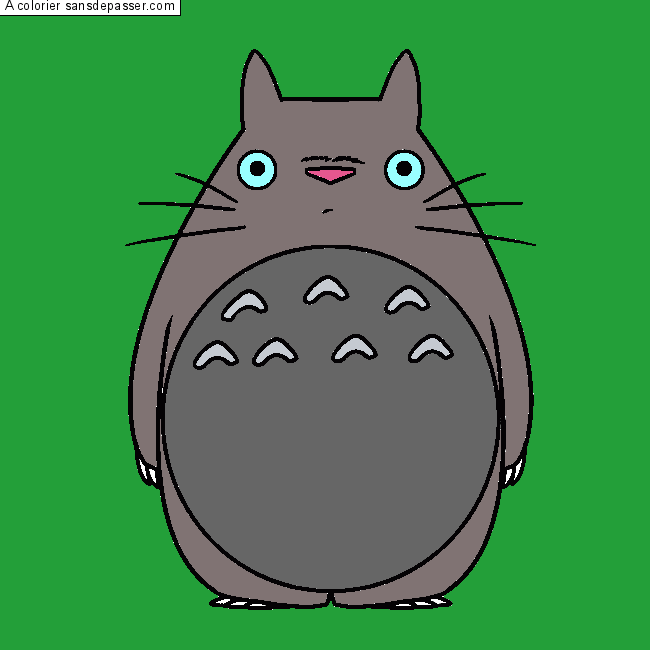 Dessin Colorié Mon Voisin Totoro Par Un Invité Sans Dépasser