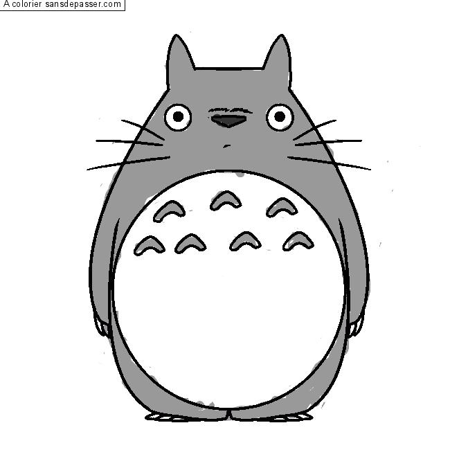 Coloriage Mon voisin Totoro - Sans Dépasser