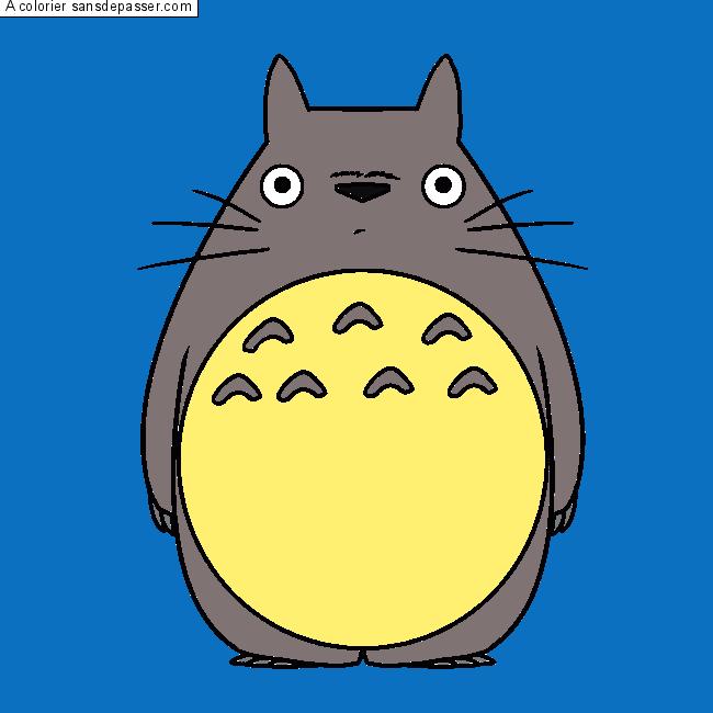 Coloriage Mon Voisin Totoro Sans Dépasser