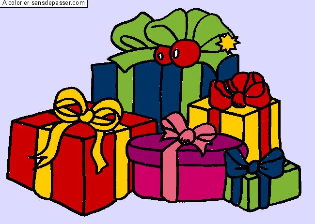 Dessin colori cadeaux par un invit sans d passer - Dessins cadeaux ...