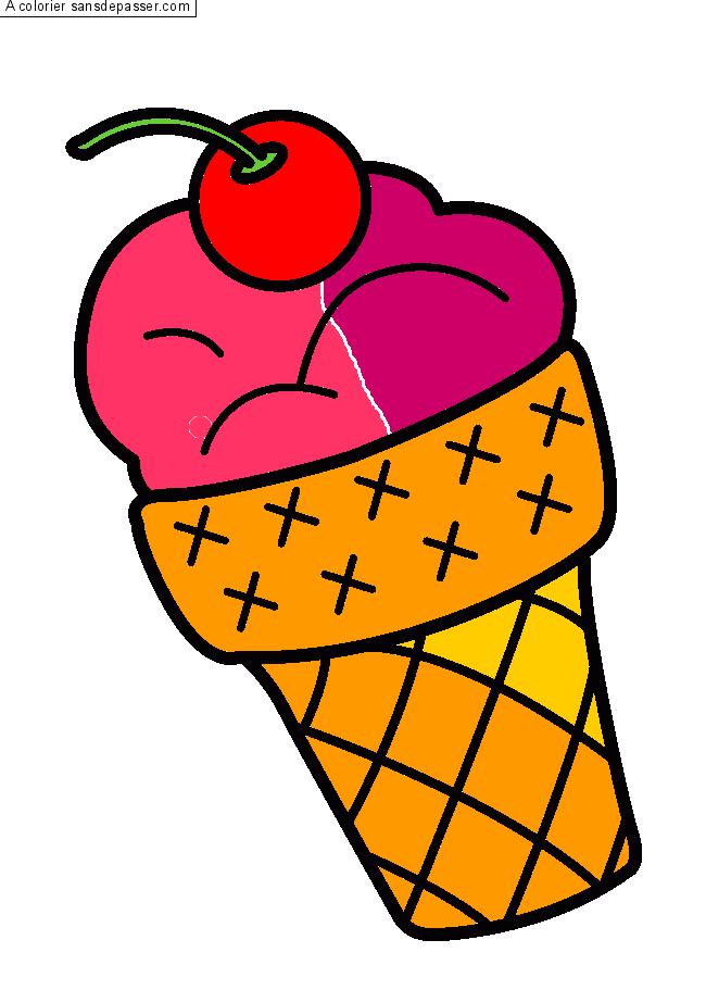 Dessin colori glace la cerise par matcan sans d passer - Vanille dessin ...