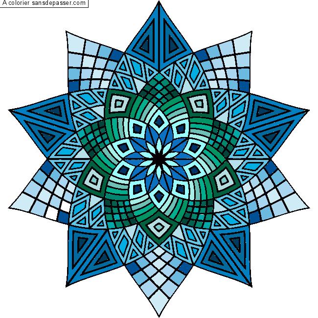 Dessin Colorie Mandala Fleur Par Un Invite Sans Depasser