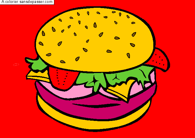 Coloriage Hamburger par un invité