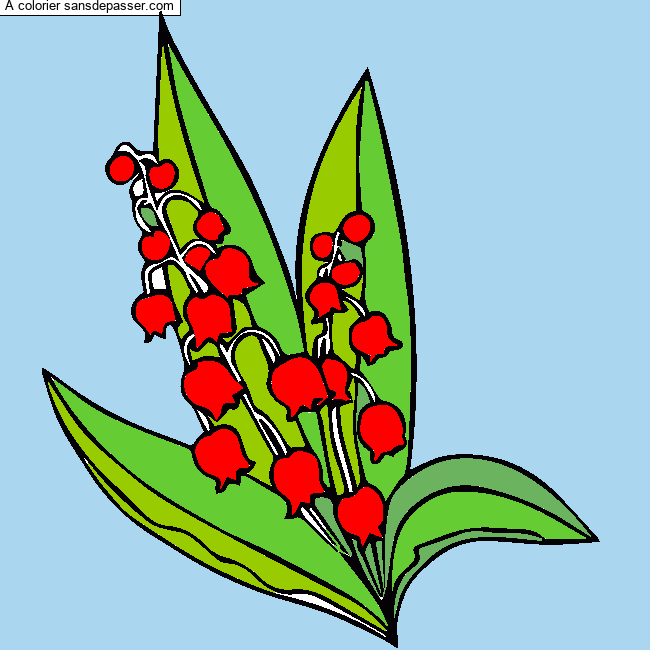 Coloriage Muguet du 1er Mai - Sans Dépasser