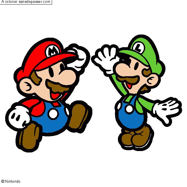 Dessin colorié : Mario et Luigi par matcan - Sans Dépasser