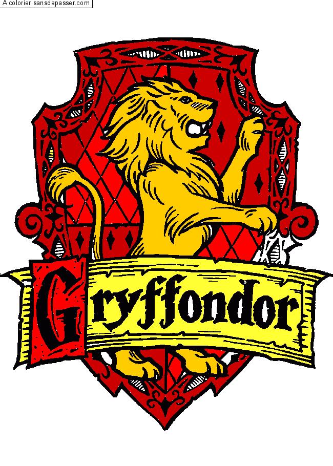 Coloriage 4 Maisons Harry Potter