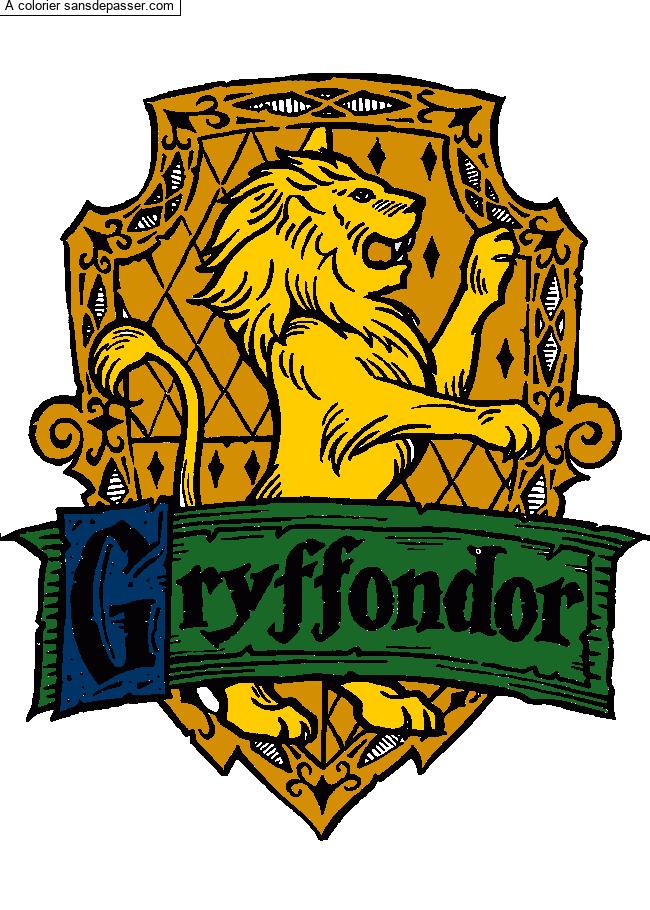 Coloriage Harry Potter et le match de quidditch - Sans ...