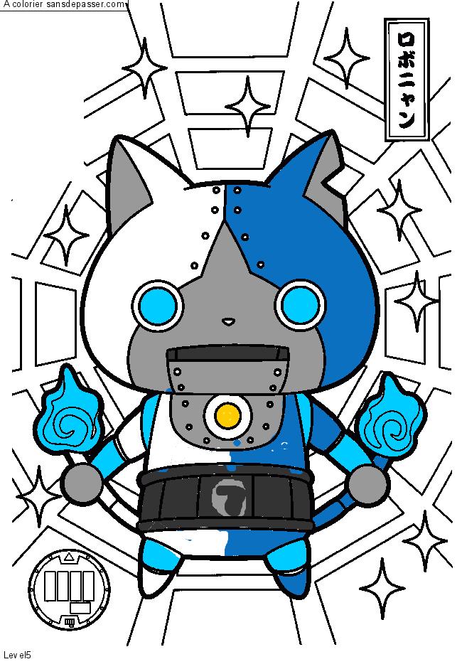 Coloriage Robonyan Sans Depasser