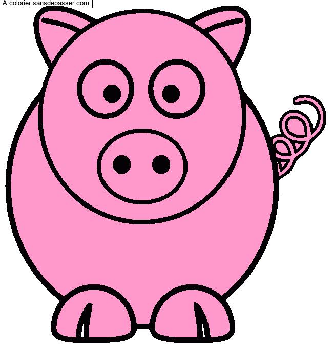 Dessin Colorie Cochon Par Louloutte Sans Depasser