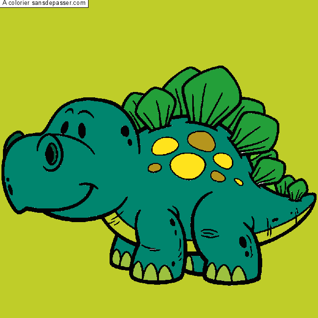 Dessin Colorie Stegosaure Par Stegoscope Sans Depasser