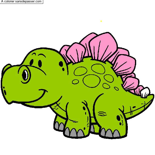 Coloriage Stegosaure Sans Depasser