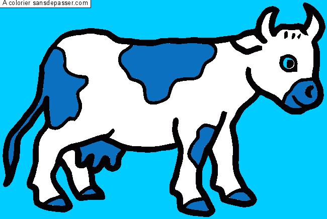 Dessin Colorié Vache Par Un Invité Sans Dépasser