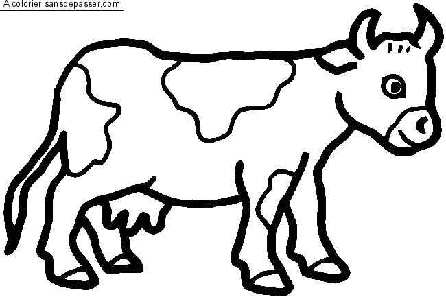 Coloriage De Mandala De Vache.Coloriage Vache Sans Depasser