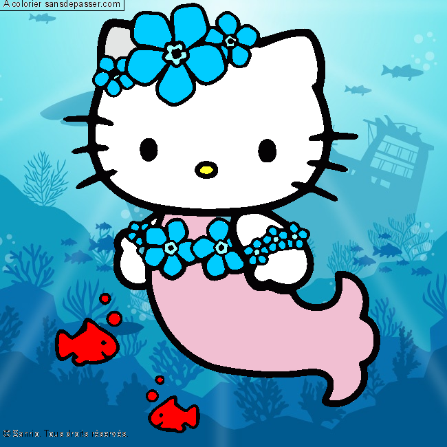 Coloriage hello kitty sir ne sans d passer - Colorier kitty ...