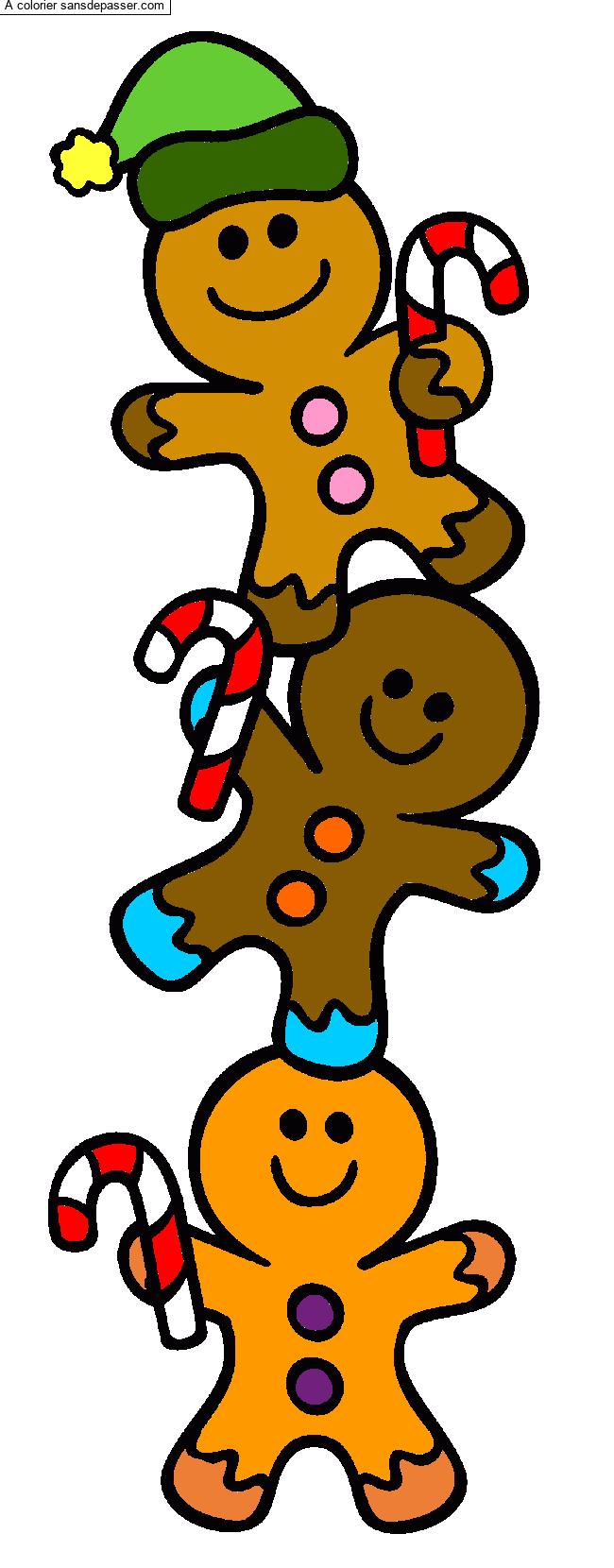Coloriage Sucre d'orge de Noël - Sans Dépasser