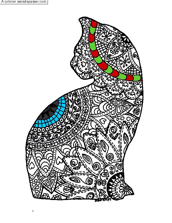 Coloriage Mandala Chat Sans Dépasser