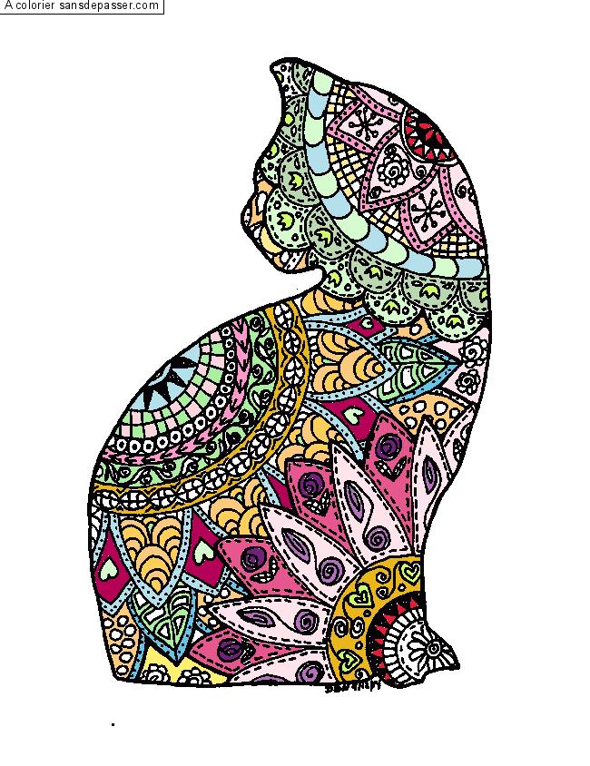 Coloriage Mandala Chat ~ Meilleures Idées Coloriage Pour Les Enfants