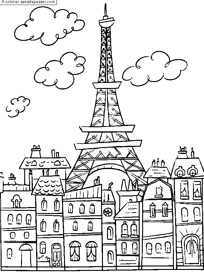 Coloriage Paris par un invité