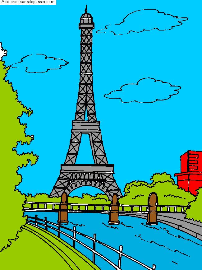 Coloriage Paris - Sans Dépasser