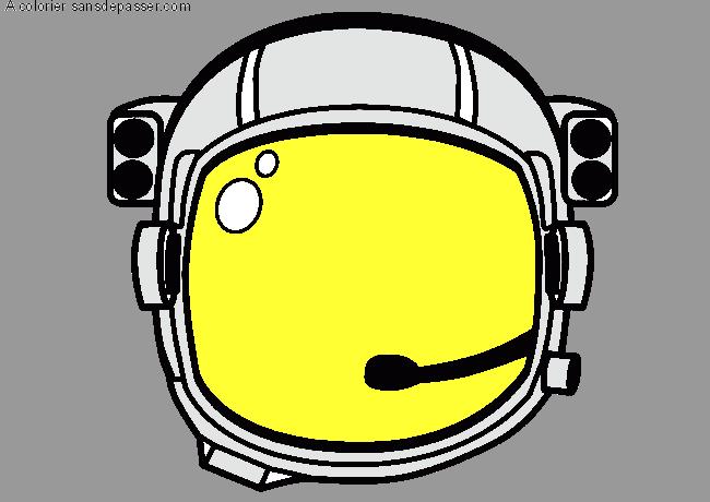 Coloriage casque d 39 astronaute sans d passer - Dessin d astronaute ...