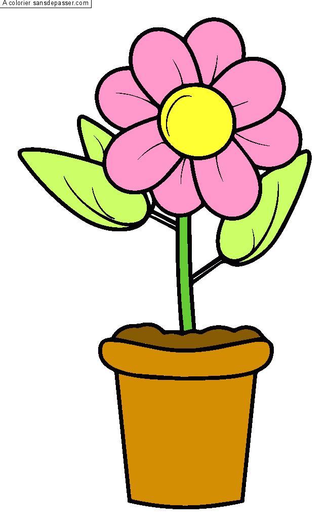 Coloriage Pot De Fleur Sans Depasser