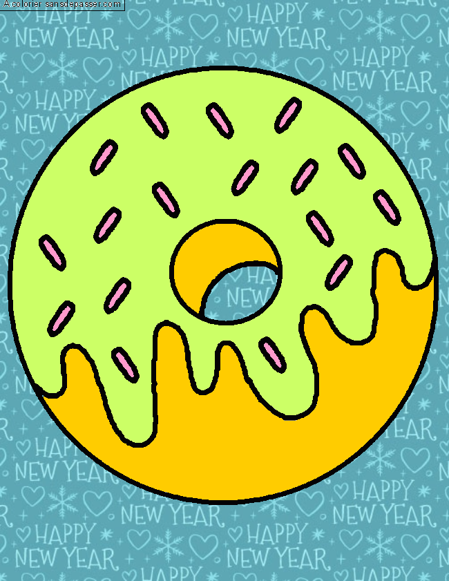 Coloriage Oh Donut !