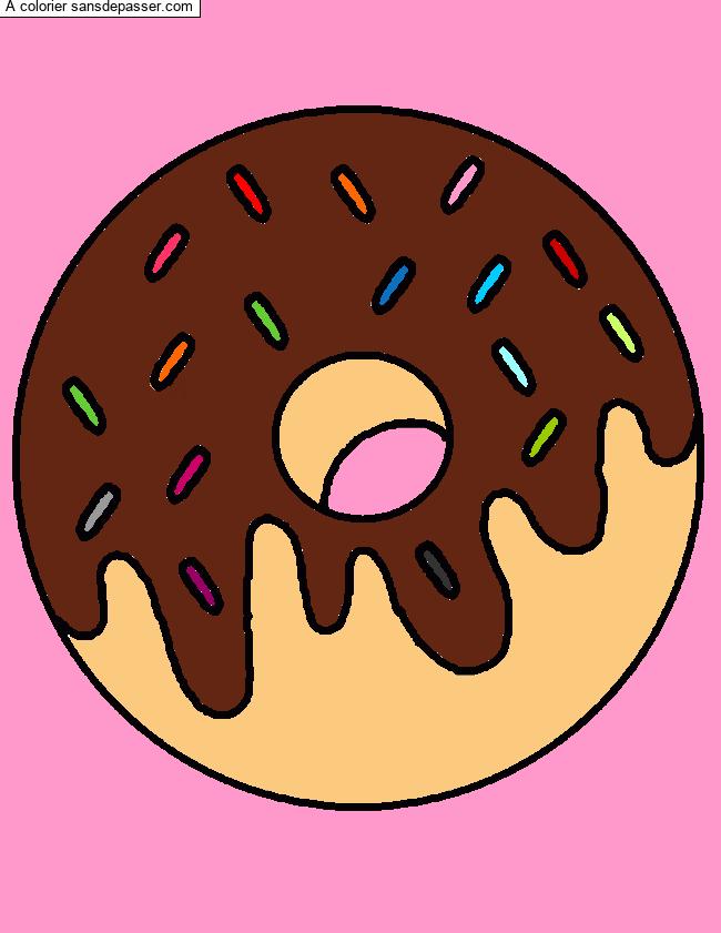 Coloriage Oh Donut Sans Depasser