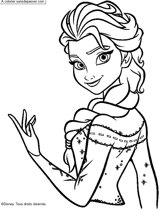 Dessin Colorie Elsa La Reine Des Neiges Par Un Invite Sans Depasser