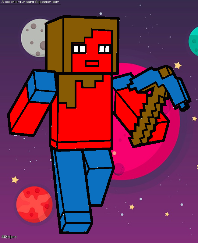 Coloriage Alex Minecraft par un invité