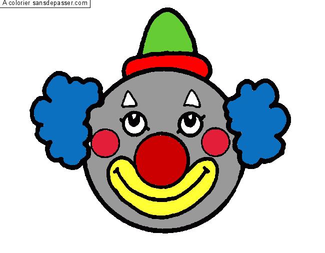 Dessin Colorie Clown Par Robinou24 Sans Depasser