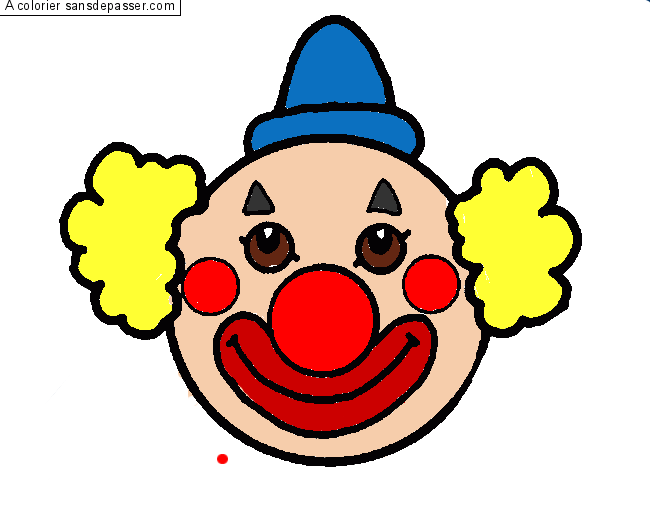 Dessin Colorie Clown Par Maeli Sans Depasser