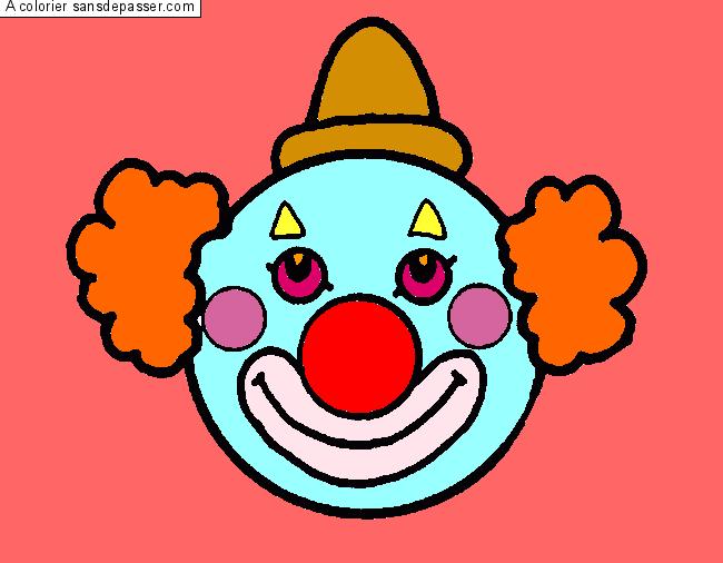 Dessin Colorié Clown Par Un Invité Sans Dépasser