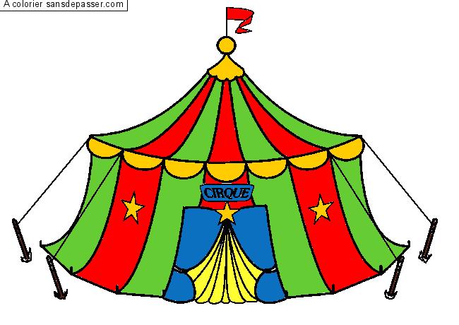 Dessin Colorié Chapiteau Du Cirque Par Un Invité Sans