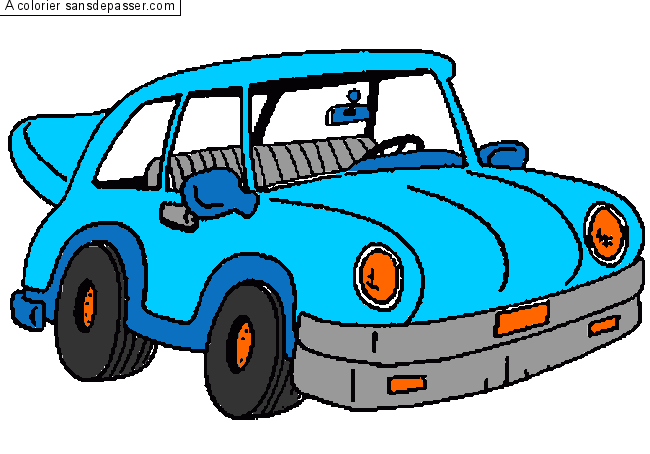 coloriage petite voiture sans d passer. Black Bedroom Furniture Sets. Home Design Ideas