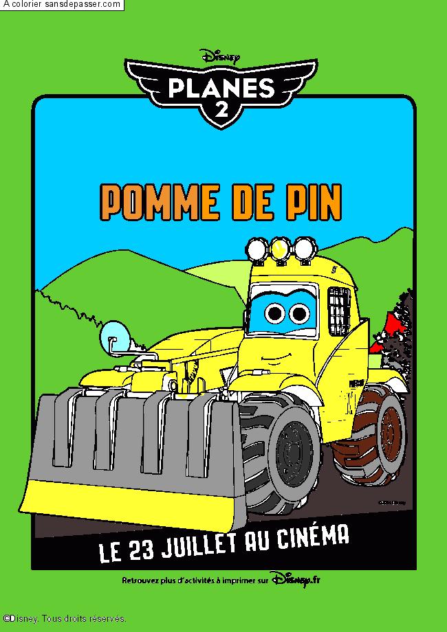 Dessin Colorie Pomme De Pin Par Un Invite Sans Depasser