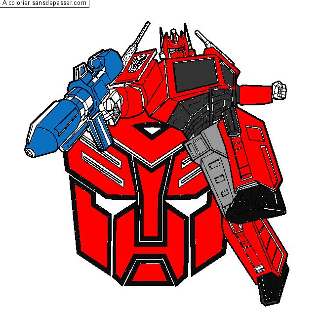 Dessin Colorie Transformers Par Un Invite Sans Depasser
